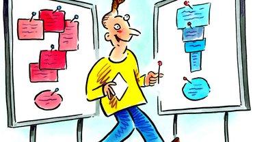Karikatur Lernende Gruppe