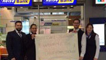 Protestaktionen in den Haustarifverhandlungen der Reisbank