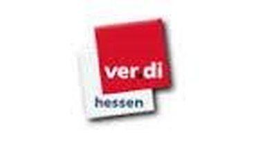 Verdi-Logo mit Unterschrift Hessen