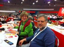 Margerete Unkhoff und Bernd Meffert auf dem DGB Kongress