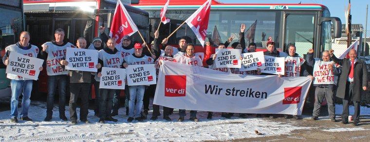 Busfahrerstreik in Limburg