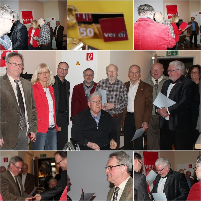 Jubilarehrung Limburg 50 Jahre