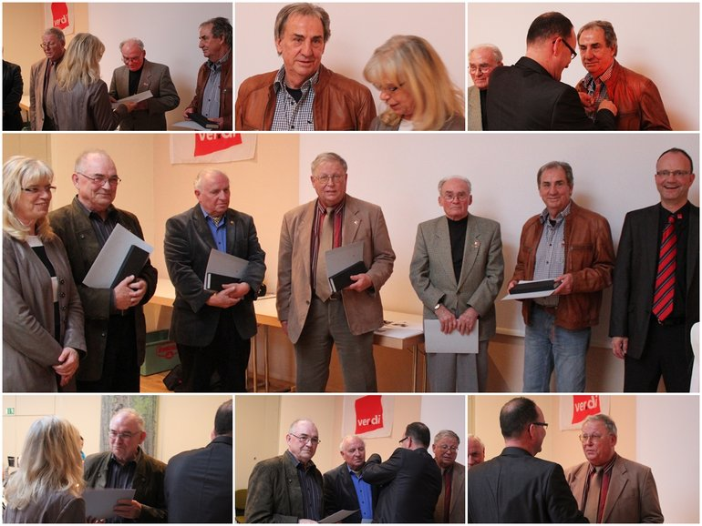 Jubiare 60 Jahre ver.di Mitgliedschaft Limburg