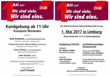 1. Mai 2017 Wiesbaden und Limburg