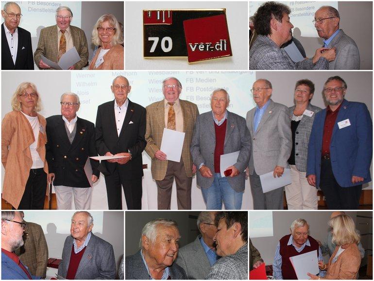 Jubilarehrung 2017 Wbn, 70 Jahre