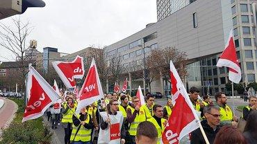 Postbank-Streik in Dortmund am 13.10.2017