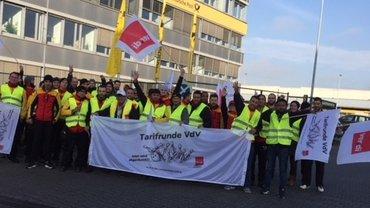 2017-11-14 Warnstreik Delivery Wiesbaden