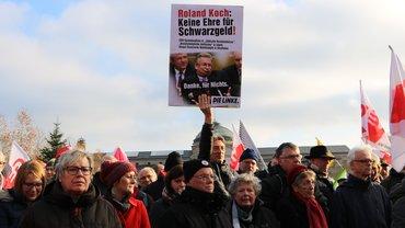 Protest gegen Roland Koch