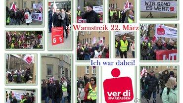 Postkarten-Collage als Dankeschön des Personalrats an die Streikteilnehmenden der Sparkasse Ludwigsburg