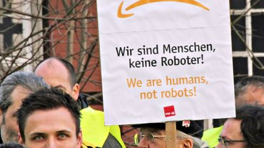 Erneute Streiks bei Amazon (hier in Bad Hersfeld)