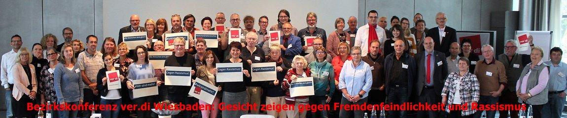 Bezirkskonferenz ver.di Wiesbaden: Gesicht zeigen gegen Fremdenfeindlichkeit und Rassismus