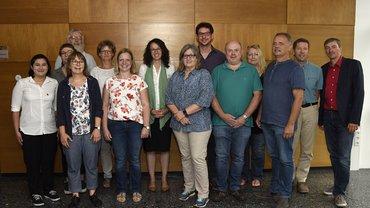 Die ver.di-Betriebsgruppe an der Philipps-Universität tauschte sich mit Hessens Wissenschaftsministerin Angela Dorn (Mitte) aus.