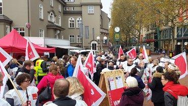 Streik bei der Sparda-Bank in Hamburg